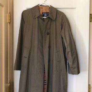 Vintage Burberry raincoat wool plaid liner SZ8L